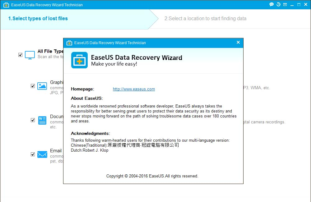 EaseUs Data Recovery Wizard License Key