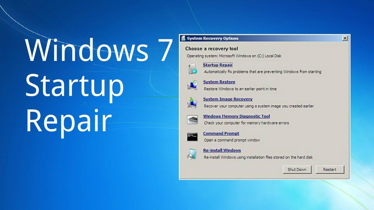 STEP FOR WINDOWS 7 REPAIR