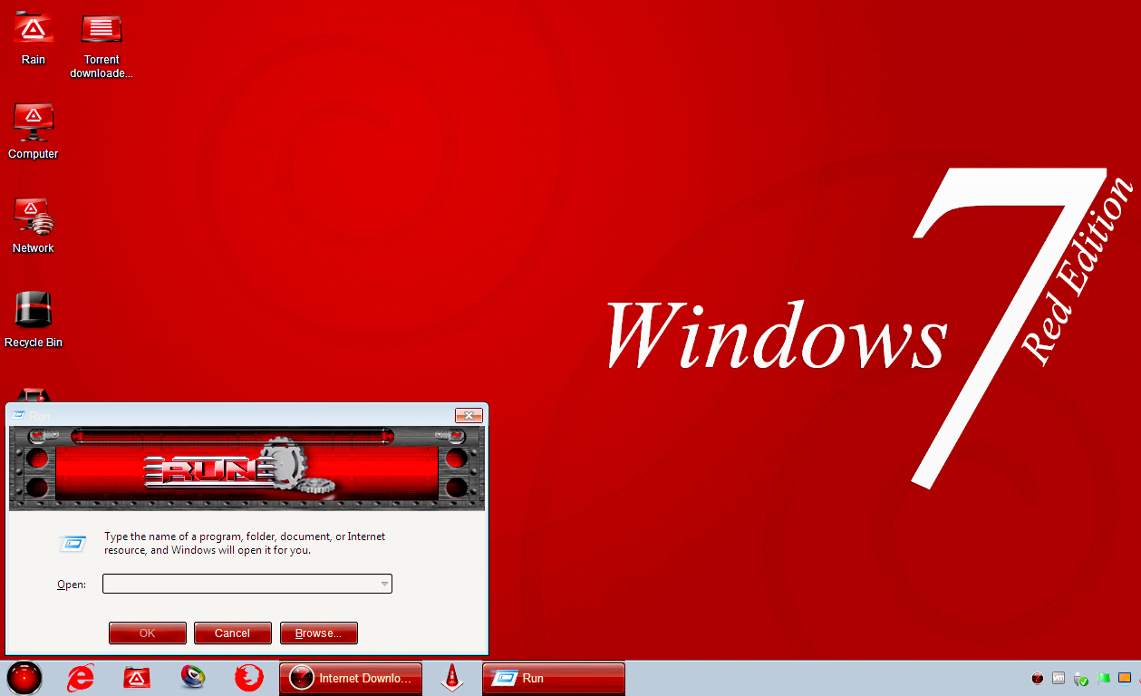 Windows 7 Red Edition free Download for PC