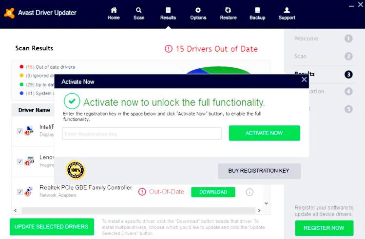 Avast Driver Updater Key 2020