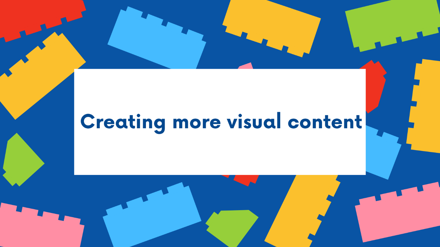 Creating more visual content